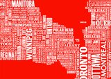 Canada type map  (Poppy red) - LEOFRAMES