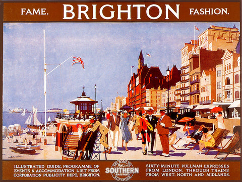 Fame and Fashion- Brighton Publicity Poster