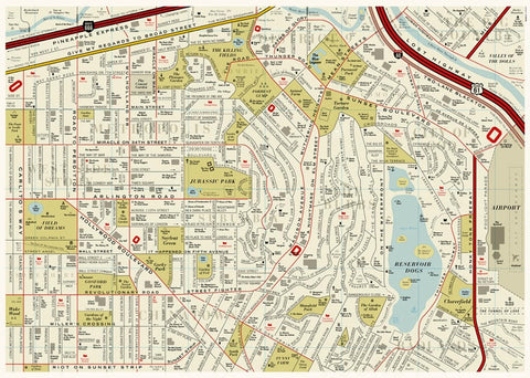 film map ,dorothy,Film Map - showing the name of films as street names