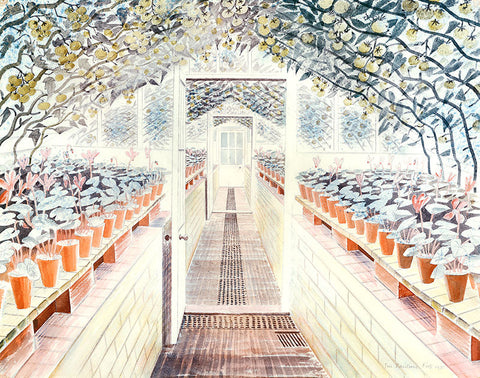 Eric Ravilious - The Greenhouse, Tomatoes and Cyclamens - LEOFRAMES