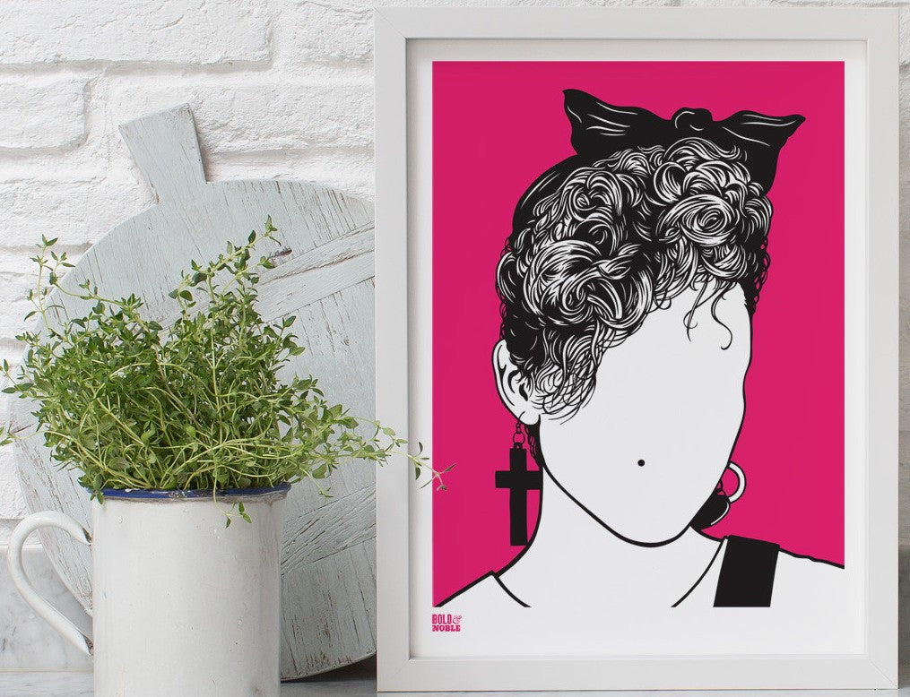 Madonna screen print By Bold & Noble