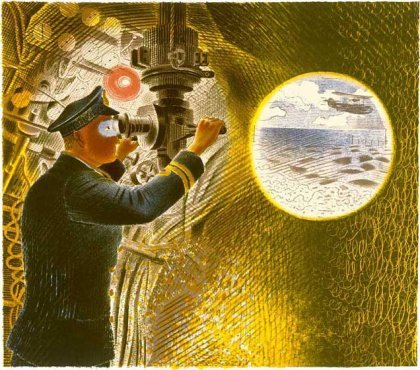 Commander of a Submarine Looking Through Periscope By Eric Ravilious - LEOFRAMES