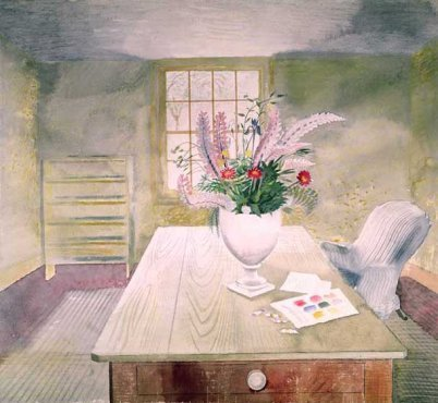Eric Ravilious - Flowers on Cottage Table - LEOFRAMES