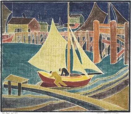 Blanche Lazzell - Sail Boat - LEOFRAMES