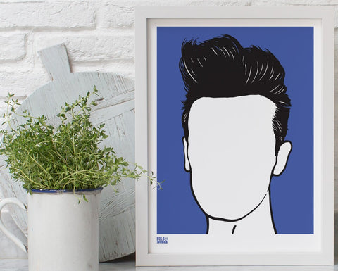 Morrissey Screen print by Bold & Noble