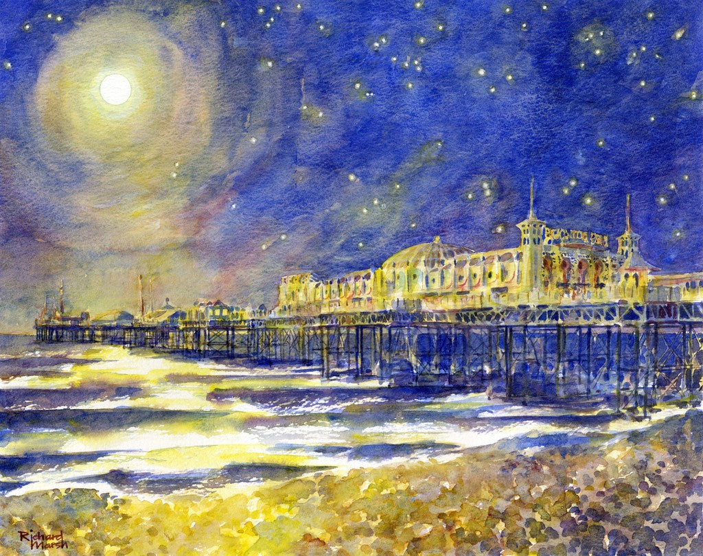 Palace Pier at night (005) By Richard Marsh - LEOFRAMES