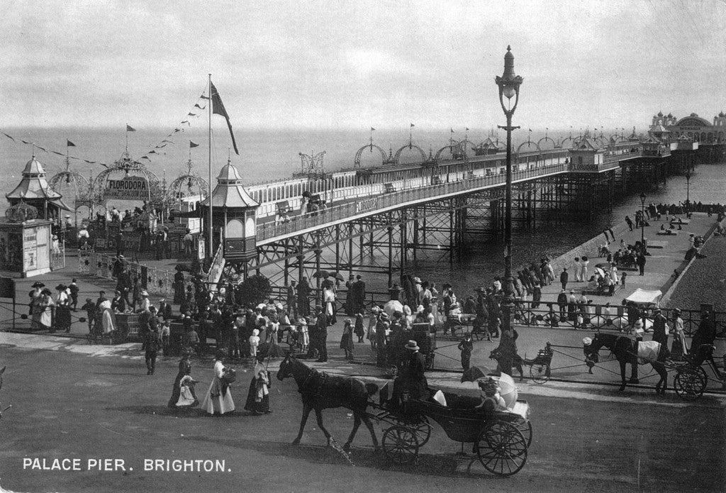 Horse and carriage by the Palace Pier, Brighton - LEOFRAMES