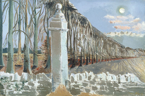 Paul Nash , pillar and moon