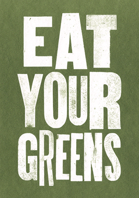 Eat Your Greens - Small framed image - LEOFRAMES