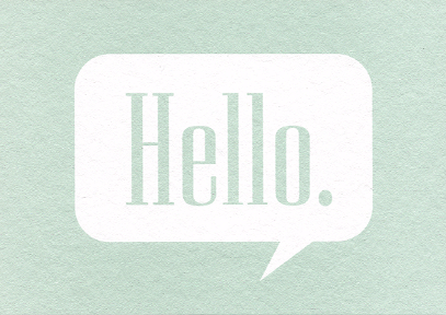 Hello - framed small image