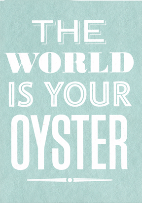 Your Oyster - Small framed image