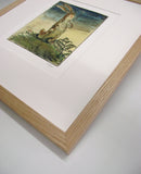 william Nicholson Velveteen Rabbit print in oak frame close up
