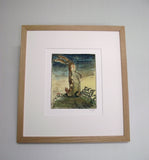 william Nicholson Velveteen Rabbit print in oak frame