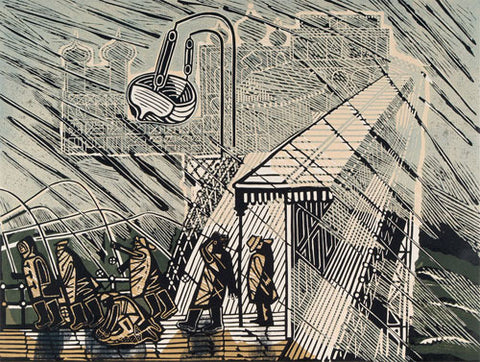 Edward Bawden - Snowstorm at Brighton - LEOFRAMES