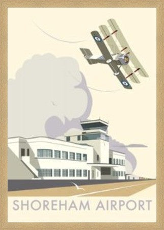 Shoreham Airport, West Sussex. By Illustrator Dave Thompson - LEOFRAMES