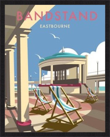 Eastbourne Bandstand, East Sussex. By Illustrator Dave Thompson