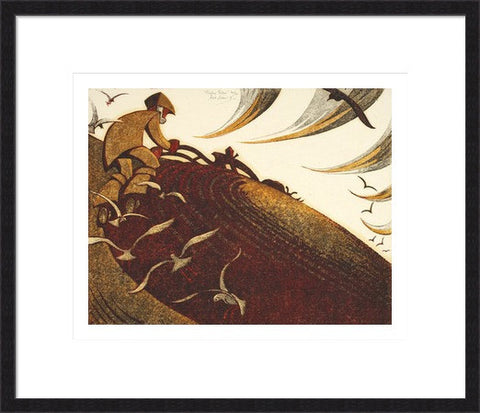 Ploughing Pasture By Sybil Andrews