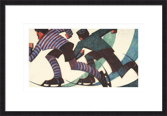 Skaters By Sybil Andrews - LEOFRAMES