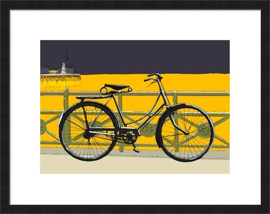Bicycle, railings and Brighton Pier By Alej ez
