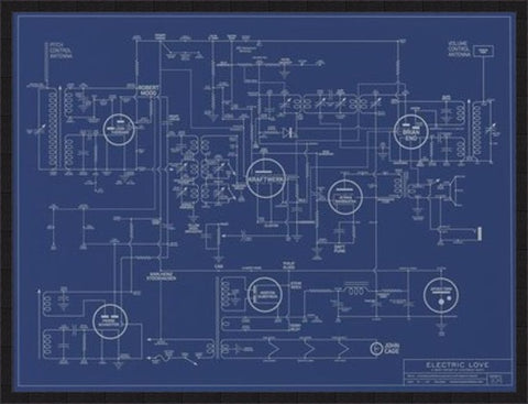 Electric Love Blueprint - A History of Electronic music (Available in store only)