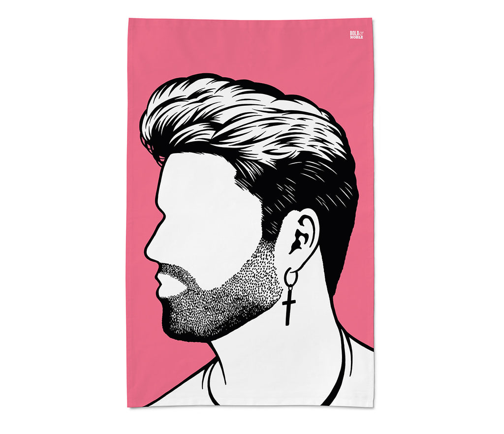 George Michael Tea Towel - LEOFRAMES