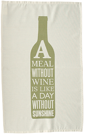 A Meal Without Wine Tea Towel - LEOFRAMES