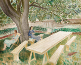 Eric Ravilious - Two Women in a Garden - LEOFRAMES