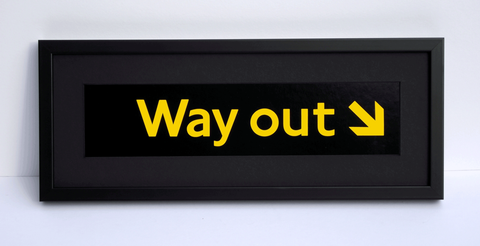 Original London Underground 'Way out' Sign