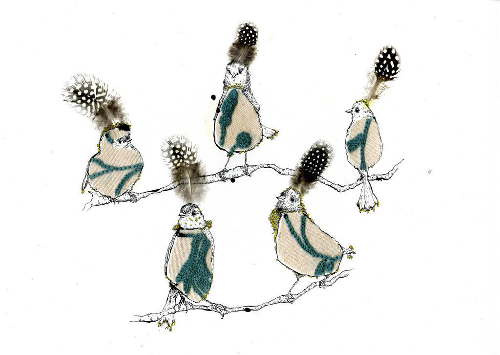 Wee blue birds By Anna Wright