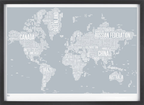 Type Map, screen print, Bold & Noble,
