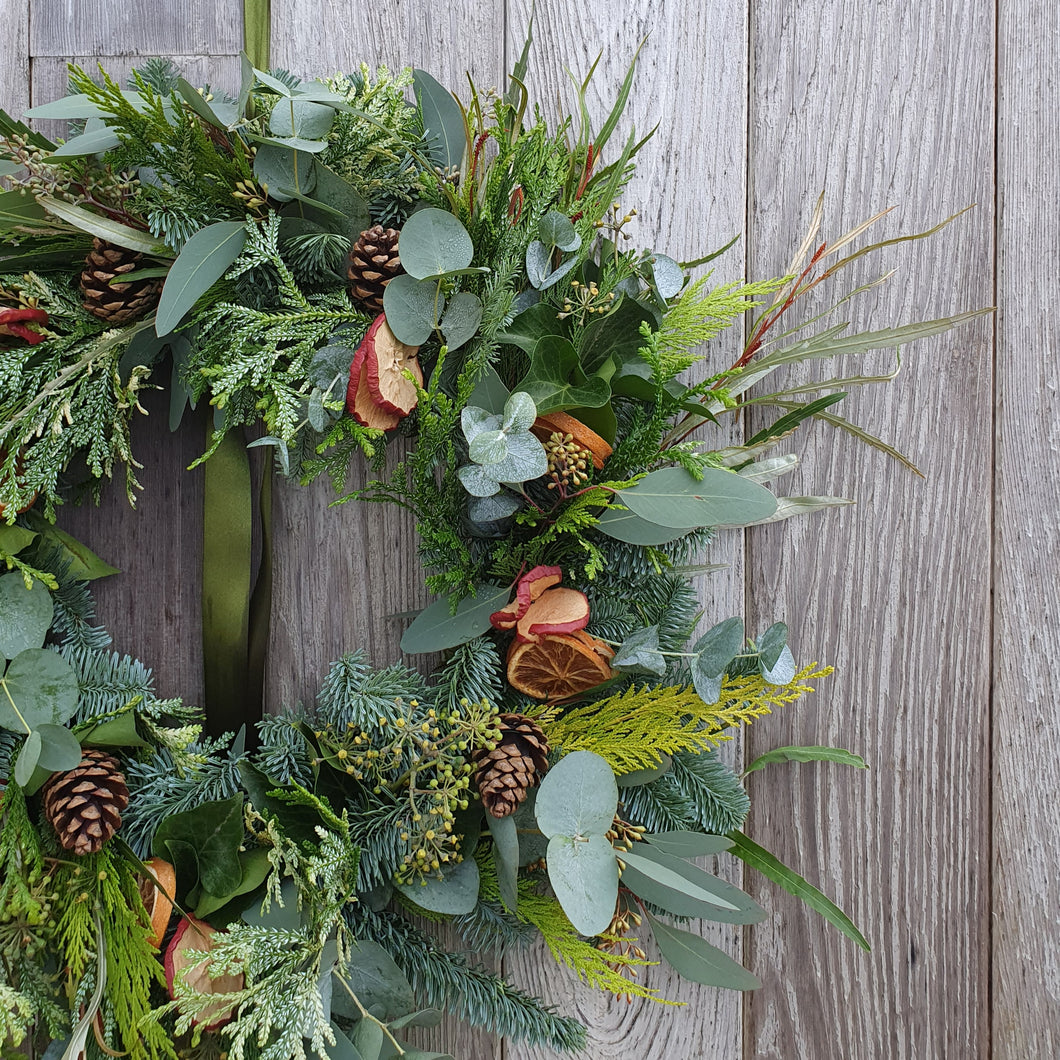 SOLD OUT Make at Home 'Foliage & Fruits' Festive Wreath Kit