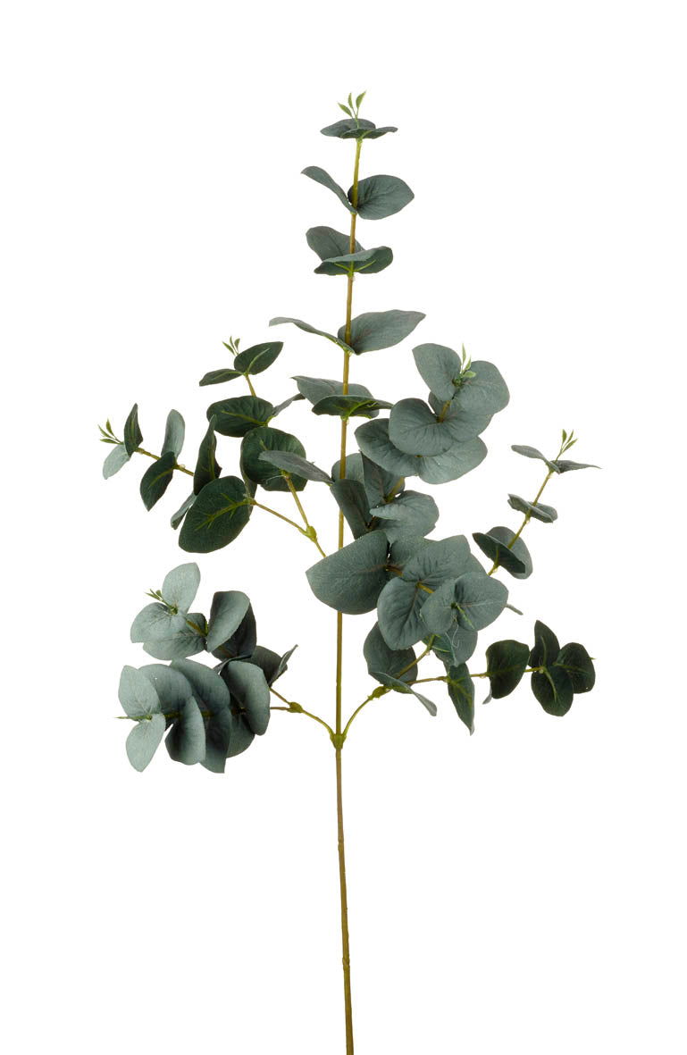 Tall Berried Spray Eucalyptus Faux Foliage Green