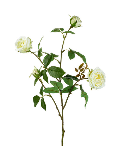 White Ellen Spray Rose Faux Flower