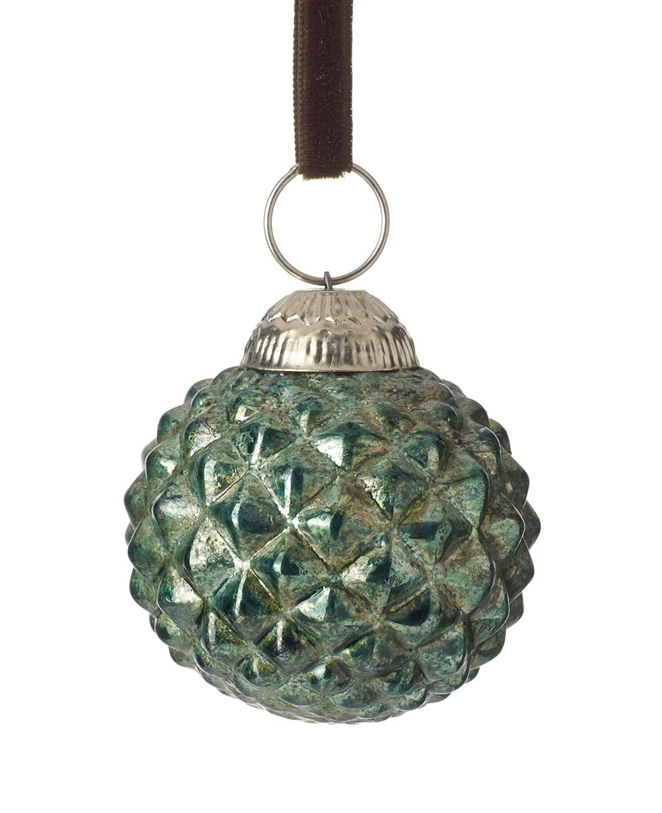 Green Dimple bauble