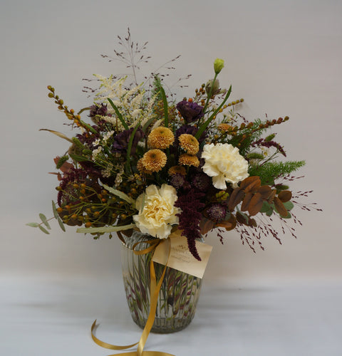 Russet Bouquet Snapdragon Edinburgh reddish browns, orange and cream