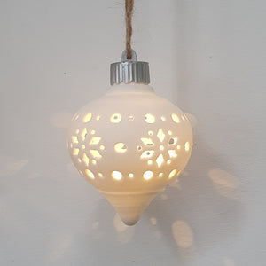 Snowflake Droplet LED bauble