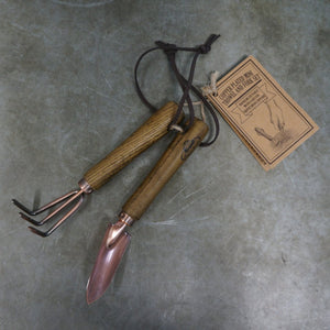 Indoor Copper Fork & Trowel set