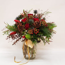 Load image into Gallery viewer, Festive Reds Posy Jar