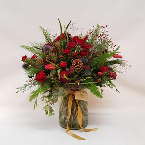 SOLD OUT Festive Reds Vase of Flowers