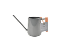 Load image into Gallery viewer, Burgon & Ball Charcoal Grey Enamel Indoor Watering Can