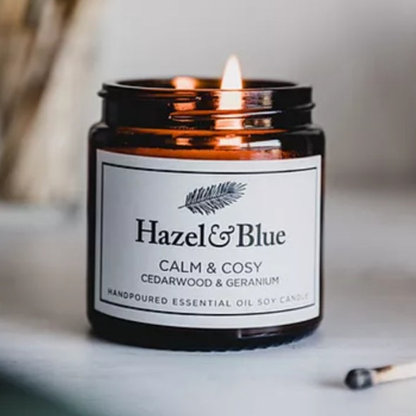 Hazel & Blue  Essential Oil Soy Candles