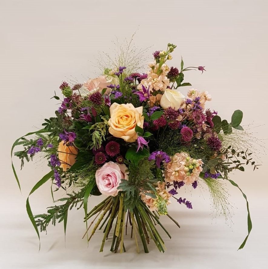 Peachy Plum Bouquet in apricot, pink and lilac Snapdragon Edinburgh