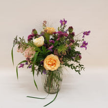 Load image into Gallery viewer, Pastel Posy Jar in apricot, pink and lilac Snapdragon Edinburgh