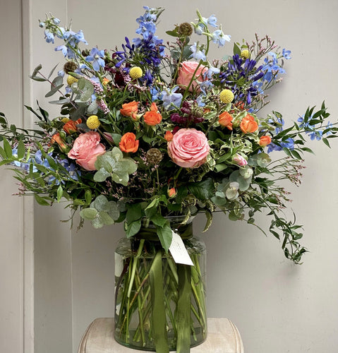 Large Seasonal Vase of Flowers