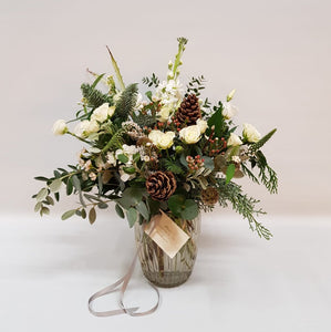 Winter Frost Posy Jar