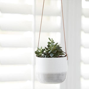 Burgon & Ball 'Ripple' Hanging Plant Pot
