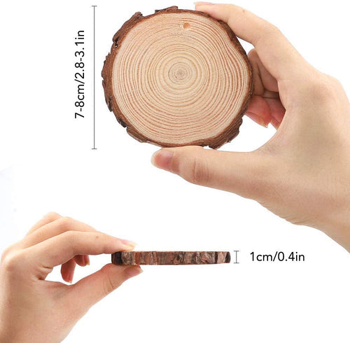 Unfinished Natural Pine Wood Slices For Pyrography [10 Pack]