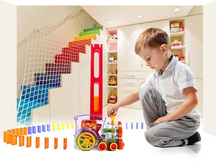 Stackables™ Domino Train 80-Piece Toy Set