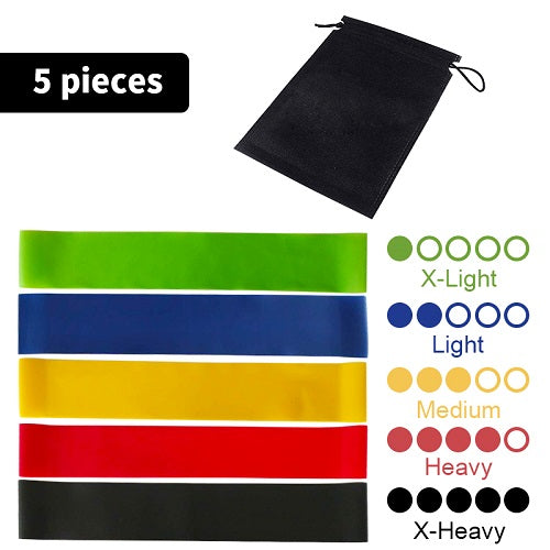 FlexFit™ 5 Resistance Bands Set + Carry Pouch