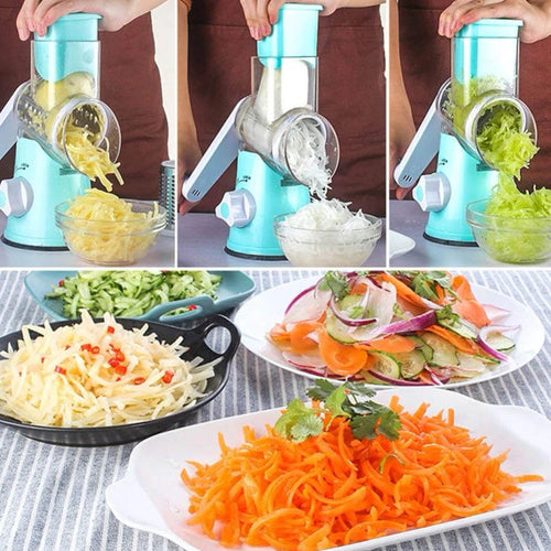 Spin N' Slice™ Multi-Function Rotary Vegetable & Cheese Grater Set
